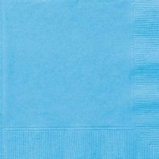 20 Powder Blue Paper Party Luncheon Napkins